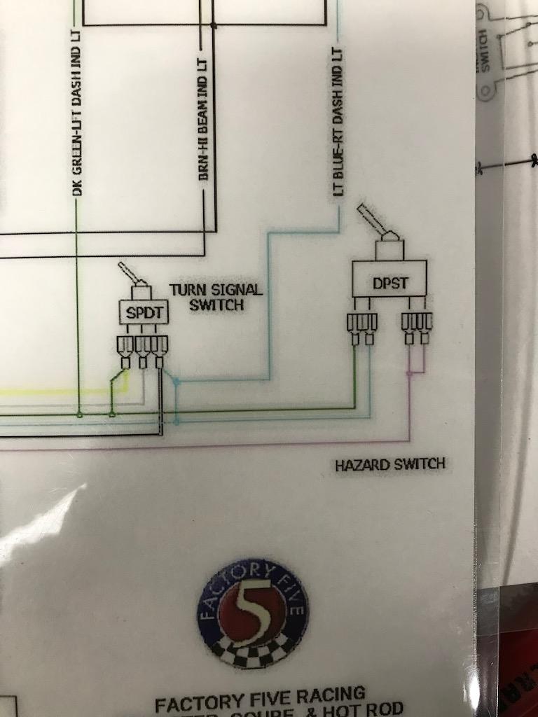 Hazard light switch wiring on