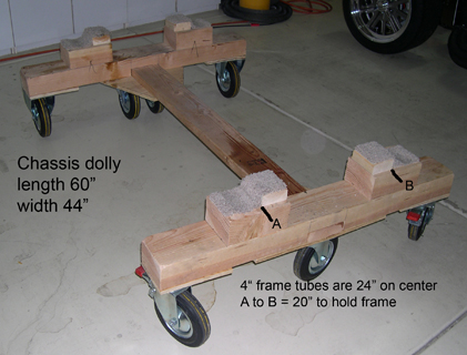 Frame Dolly and Body Buck Plans for the FFR MkIV Roadster