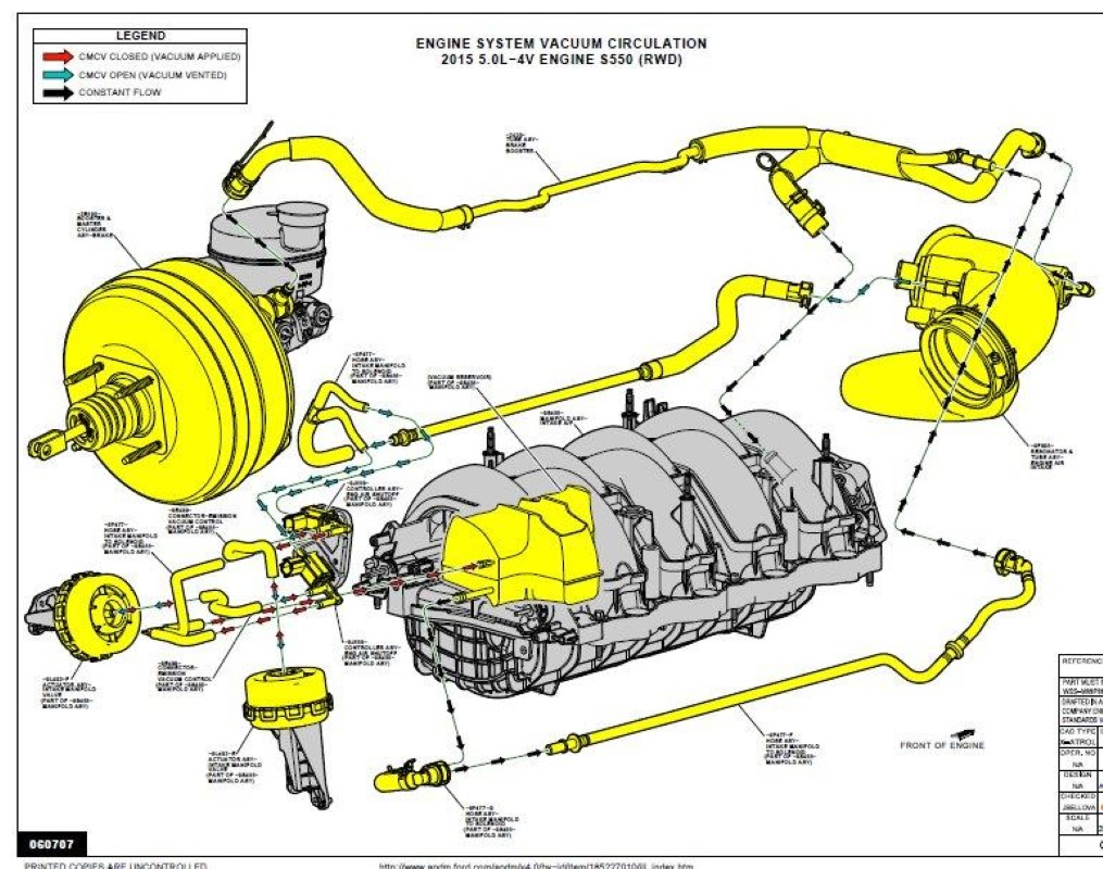 Engine Vacuum Line Diagram